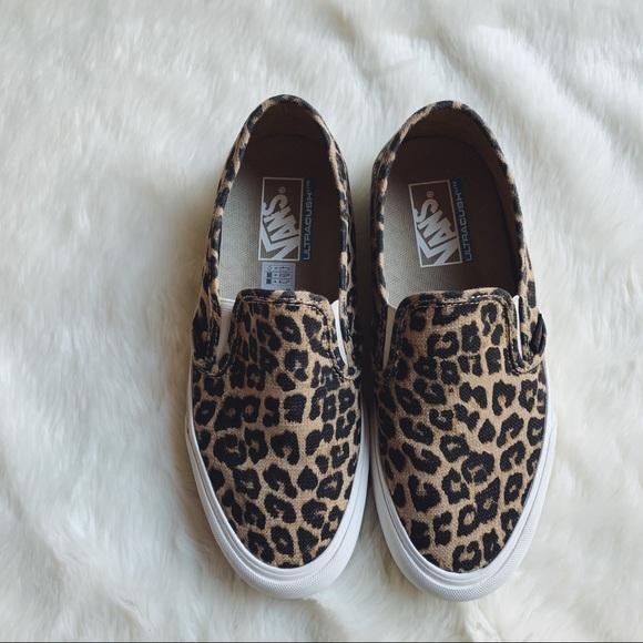 Vans Leopard Print Hemp Slip On SF Sneakers e356ba8a3